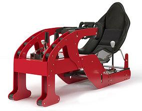 3D model Racing game simulator chair EVOLUTION F1