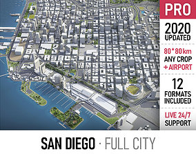 3D model San Diego - city and surroundings