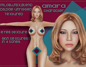 Amara character 3D asset