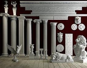 Collection of Roman plaster lines 3D model