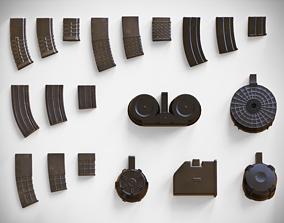 Magazine Attachments Pack - Clip - LMG - Sniper 3D asset 3