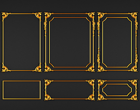 classic gold decoration 3D model