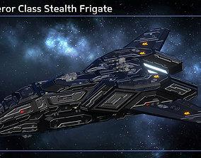 3D model VR / AR ready Spaceship Stealth Frigate Conqueror