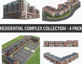 Residential Complex Collection - 4 Pack 3D asset