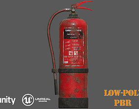 realtime Old Fire Extinguisher PBR Low-Poly Game Ready 3D