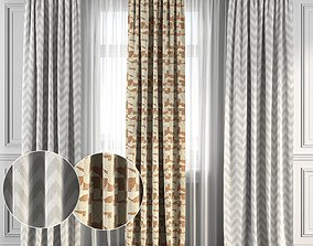 3D model Curtain Set 117