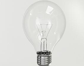 3D PBR Incandescent Light Bulb