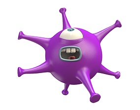 Cartoon Virus Monster 3D