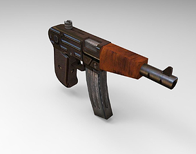 Old Guns Set 3D model