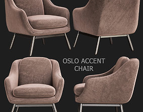 game-ready Oslo Accent Chair 3d model