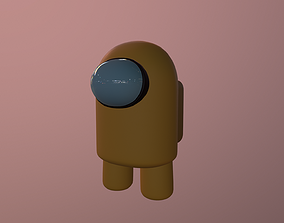 Among Us Rigged Yellow Dude 3D asset