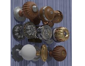 9 Door Knobs 3D model