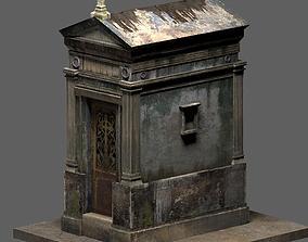 Weathered Leaking Mausoleum 3D model