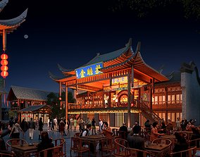 The Ancient Chinese Temples 012 3D chinatown
