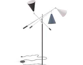 Arredoluce Three-Arm Floor Lamp 3D model