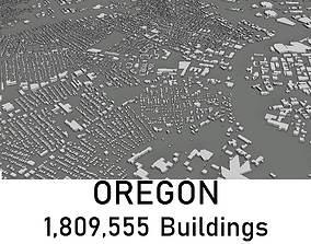 low-poly Oregon - 1809555 3D Buildings