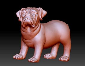 French Bulldog animal statue 3D printable model