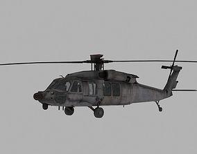 Black Hawk 3D model game-ready