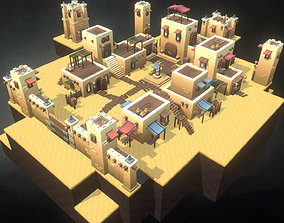Desert Town Building Set - Proto Series 3D model