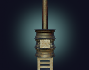 Handmade Stove furnace PBR low-poly game 3D asset