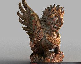 3D asset Bali-Statue-020