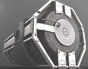 Futuristic Emergency Backup Generator 3D asset realtime