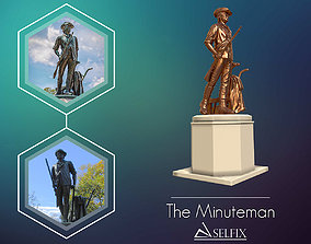 Minuteman Sculpture ready to 3D printing