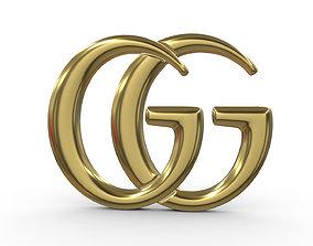 gucci logo 3 3D model