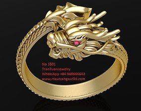 3D print model 1601 Luxury Dragon Ring Version 1