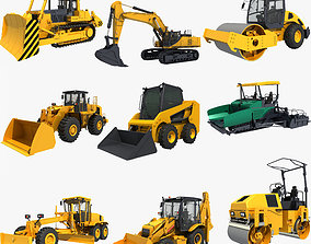 Collection Construction Vehicles 04 3D