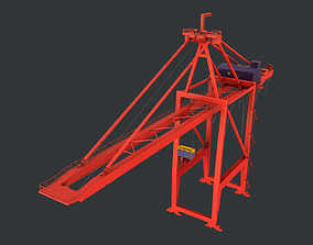 3D model PBR Quayside Container Crane Version 1-