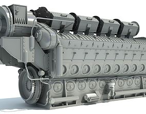 Locomotive Electro-Motive Diesel Engine 3D model