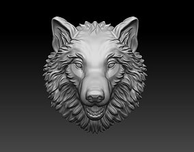 3D printable model Wolf bas reliefe for pendant jewelry