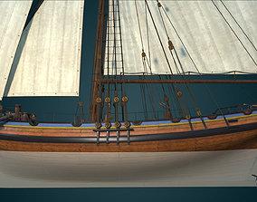 3D model HMS Alert 1777 Cutter