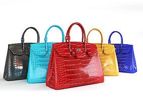 3D model Hermes Birkin female handbags
