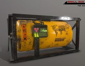 3D asset Sci fi small lowpoly gas tank
