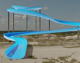 summer Water Slide 3D asset VR / AR ready