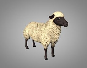 Sheep or Ram 3D asset animated