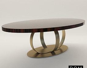 3D model Elliptic dinner table Andrew - -Dom Edizioni