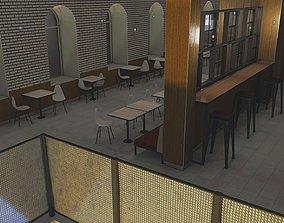 lamp 3D model restaurant interior