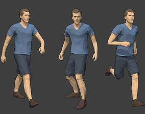 3D asset Rigged Lowpoly Male Character - Jack