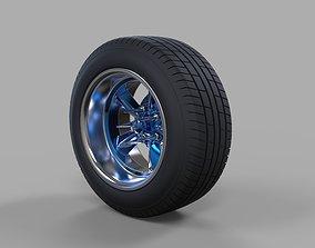 3D model Wide car wheel 2 tire