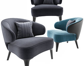 3D Minotti Aston Little Armchair