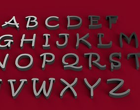 KRISTEN font uppercase and lowercase 3D letters STL file