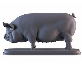 3D printable model Middle White Pig