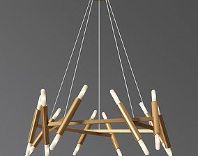 Le Pentagon Chandelier Jonathan Browning 3D