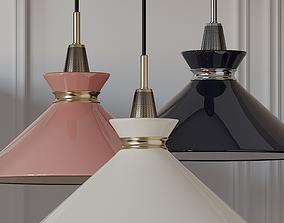 Mitzi Kiki Aged Brass Pendant Light Pink Blue Cream 3D