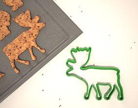 3D printable model Cookie mold Christmas reindeer
