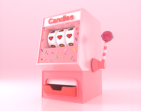 Candy Slot Machine 3D