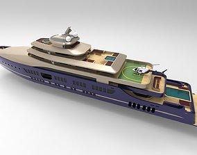 3D model luxury yacht 88